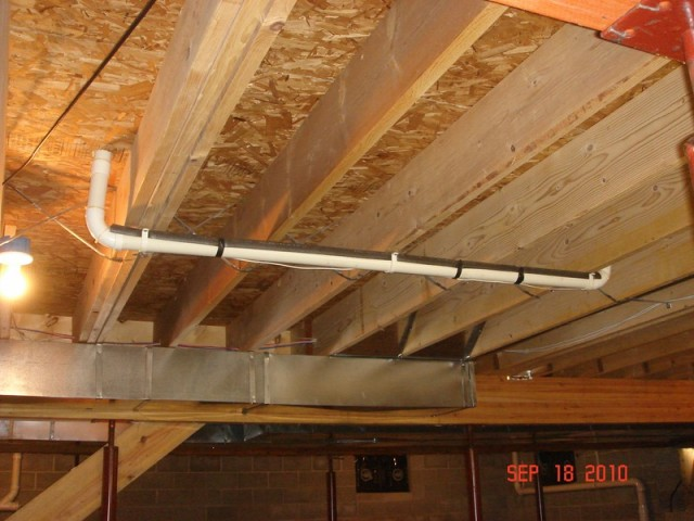 Running Pvc Pipe Through Joists Plumbing Diy Home