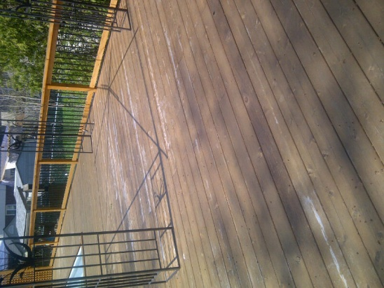 Cedar Deck Stain Failure Sand Or Strip