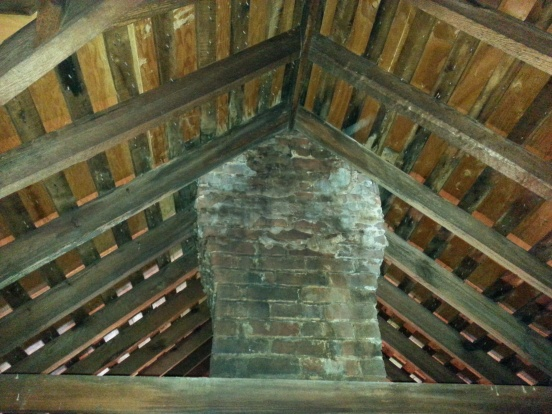 Removing Chimney And Repairing Rafter Ridge Building