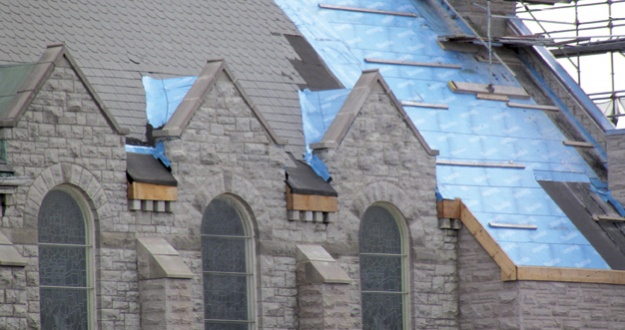 Roofing 15# felt underlayment or Titanium UDL 30 Synthetic Underlayment??-church.no-cables.jpg