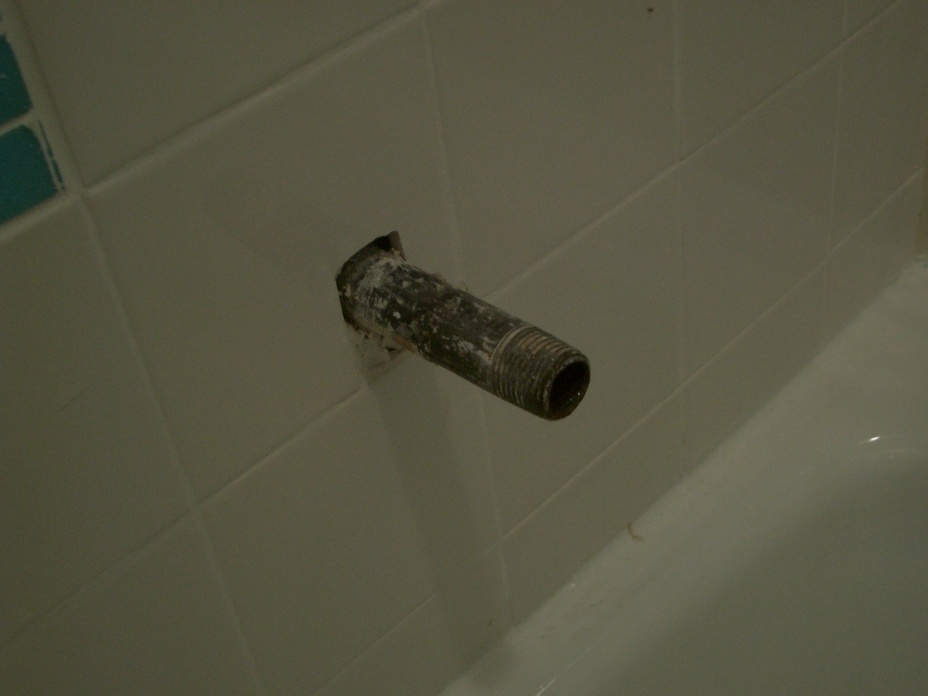 Install Tub Spout And Shower Arm - Plumbing - DIY Home Improvement ...