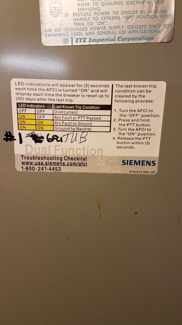 Walk Tub Circuit Breaker Tripping Warranty Electrical Page Diy Chatroom Home