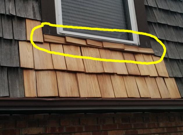 Cedar Shingles Under Window Question Roofing Siding