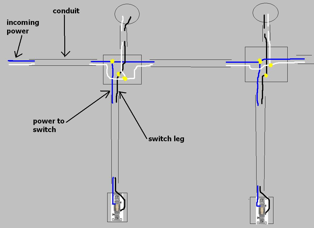recessed lighting wiring diagram parallel