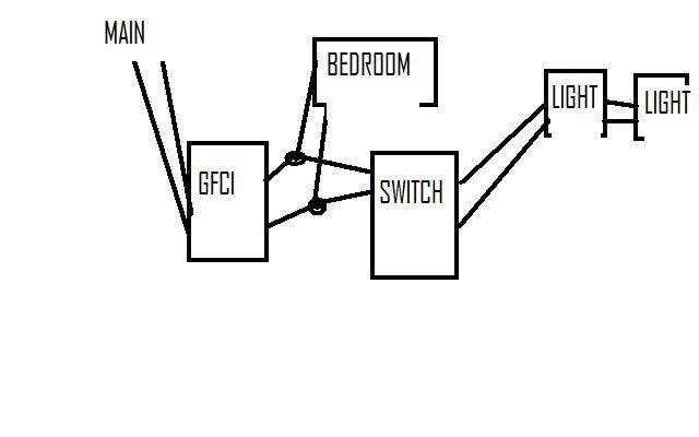 wiring up a switch from a gfci - electrical