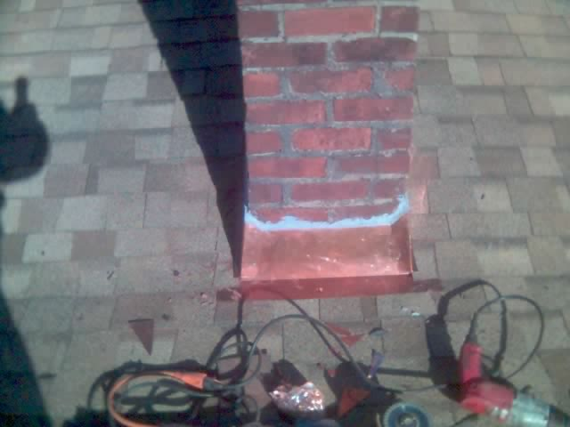 Counter flashing where roof meets vertical brick wall-copper-chimney5.jpg