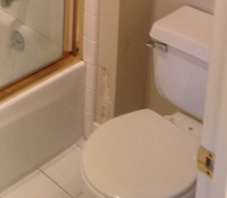 Bathroom Wall Damage How To Fix Drywall Plaster DIY - How to fix bathroom wall