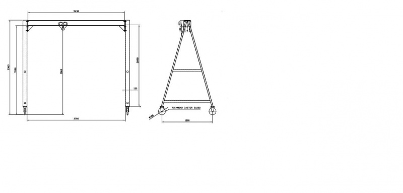 Steel frame gantry crane chain hoist 2 ton-crane.jpg