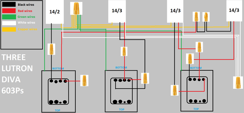 replacing 3 diva switches and 2 3 way switches with grafik eye qs rh diychatroom com grafik eye grx-tvi wiring diagram grafik eye qs wiring diagram