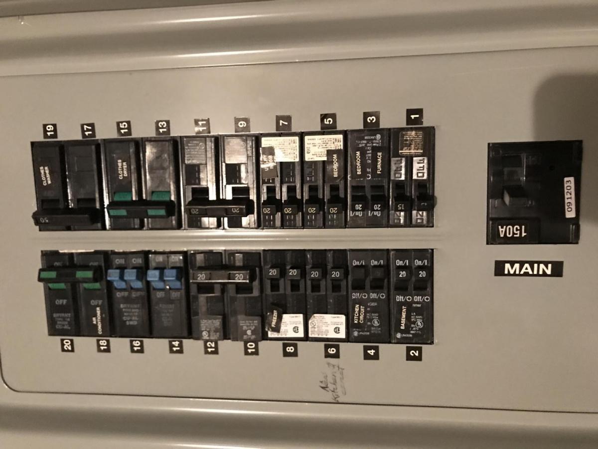 Making Room In Breaker Box For 50amp And 30 Amp Breakers ...