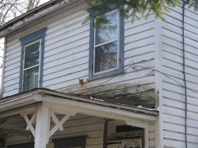 Where Porch Roof Meets Wood Siding Roofing Siding Diy
