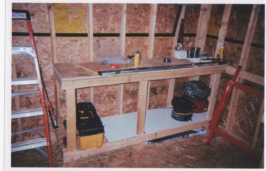 Single Car Garage Work Bench Dec9