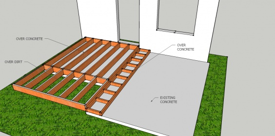 Build A Deck Over Concrete Patio Pueblosinfronteras Us