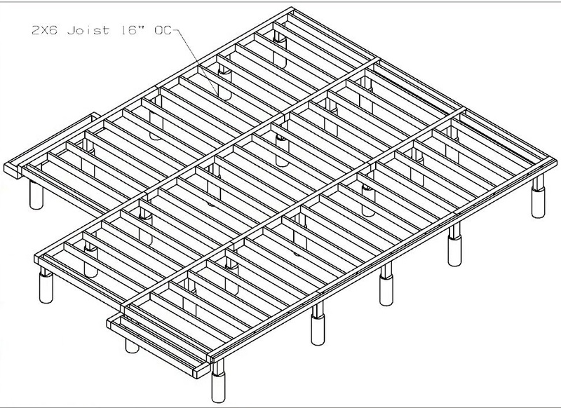 Opinion On Deck Frame Using Pt 4x6 Beam 2x6 Joist Building