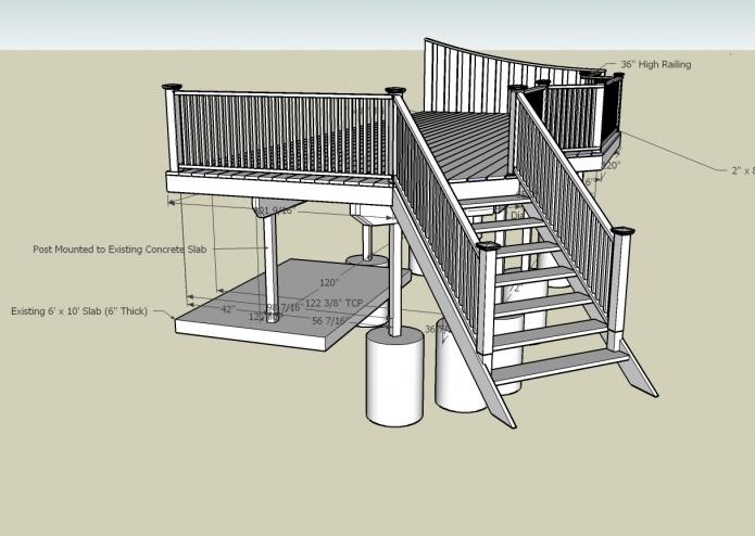 Deck building question installing ledger board to rim
