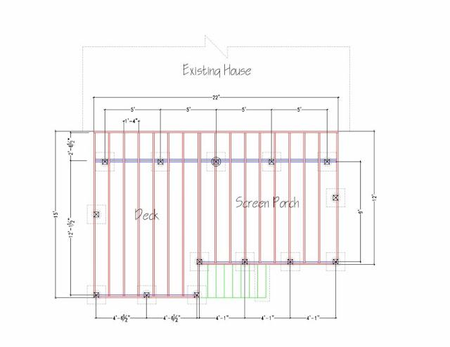 Please Eyeball My Deck/porch Framing Plan - Building & Construction ...