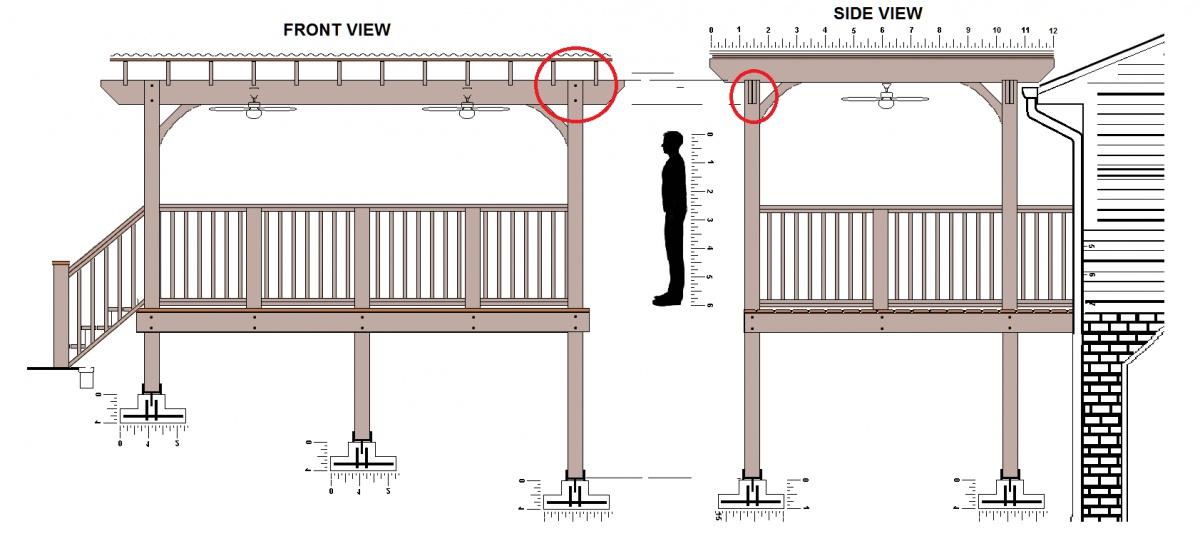 Pergola Main Beams Span Deck1 Jpg