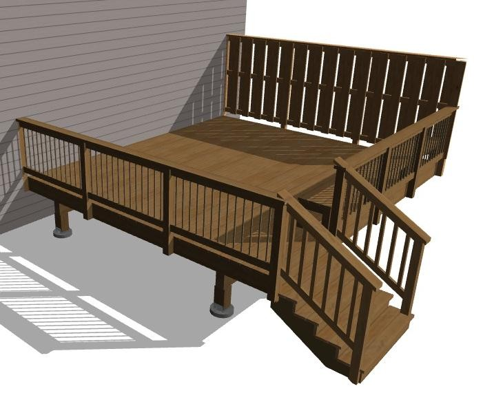Composite Deck With Wood Railings Or Ditch The And Go All