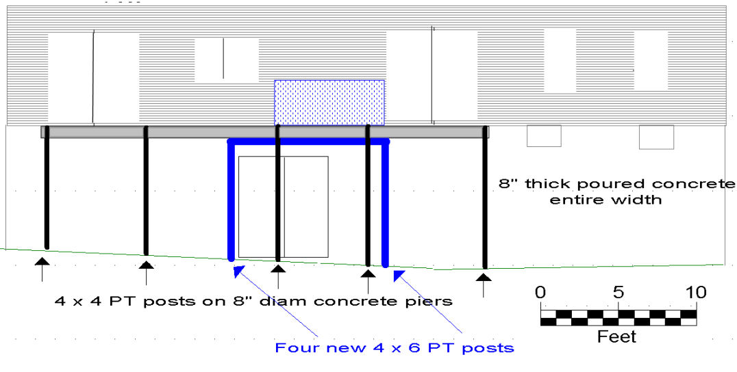 Adding support for new hot tub on an existing deck.-deck_elevation_view.jpg