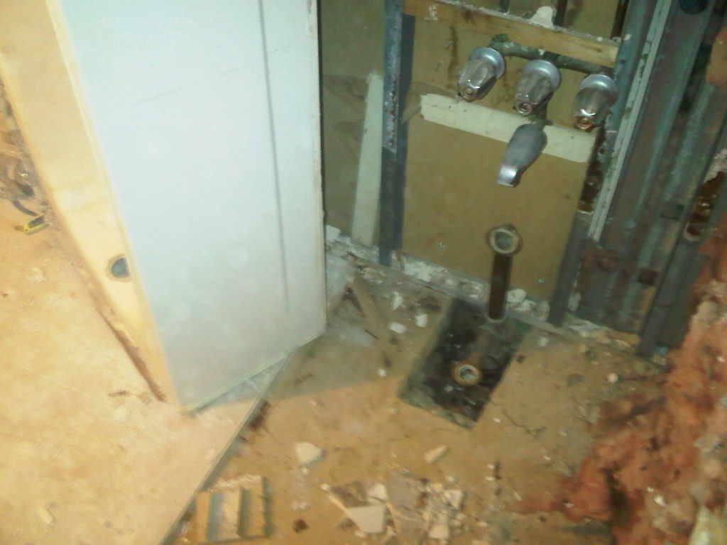 condo master bathroom reno demo bathtub to shower conversion