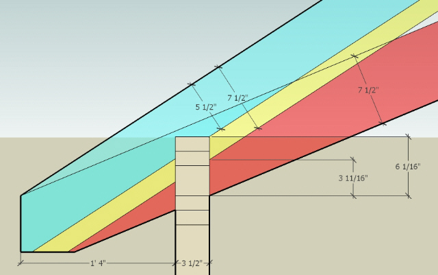 ... Unequal Pitch Roof Framing Diy Unequal Pitch Roof Plate Height