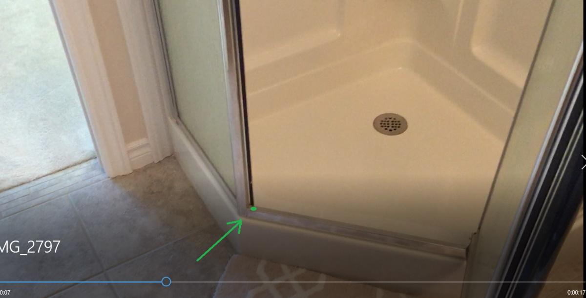 Shower door magnet not catching (lower part of the door)-door-hump.jpg