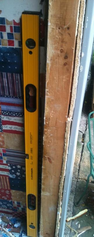 Exterior door install on a crooked wall windows and - How to make a door jamb for an exterior door ...