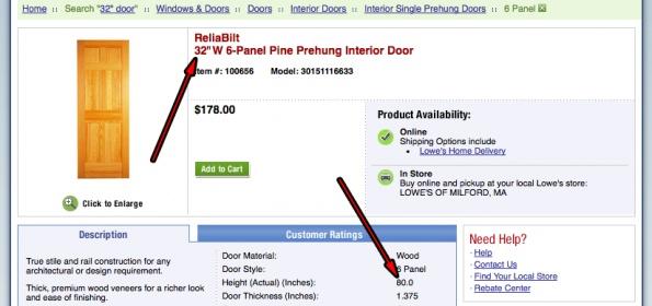 Pre hung door 32x80 is that door size or total size - 32x80 exterior door rough opening ...