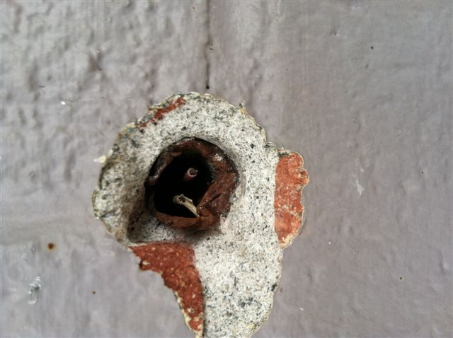 Doorbell wire in brick wall is too short-doorbell-wire-issue-4-2012-.jpg