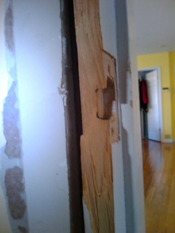 repairing bedroom door jamb doorjam4jpg