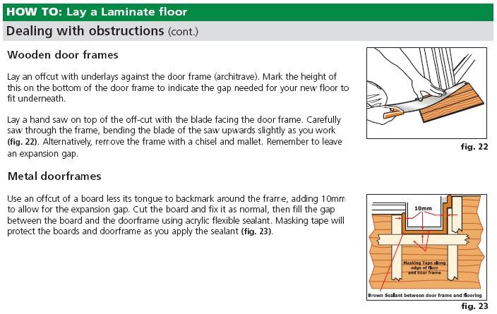 Installing Laminate Around Doors Doorjamb Jpg