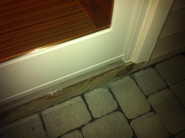 Sliding Door Installation Over Concrete Slab Doorphoto