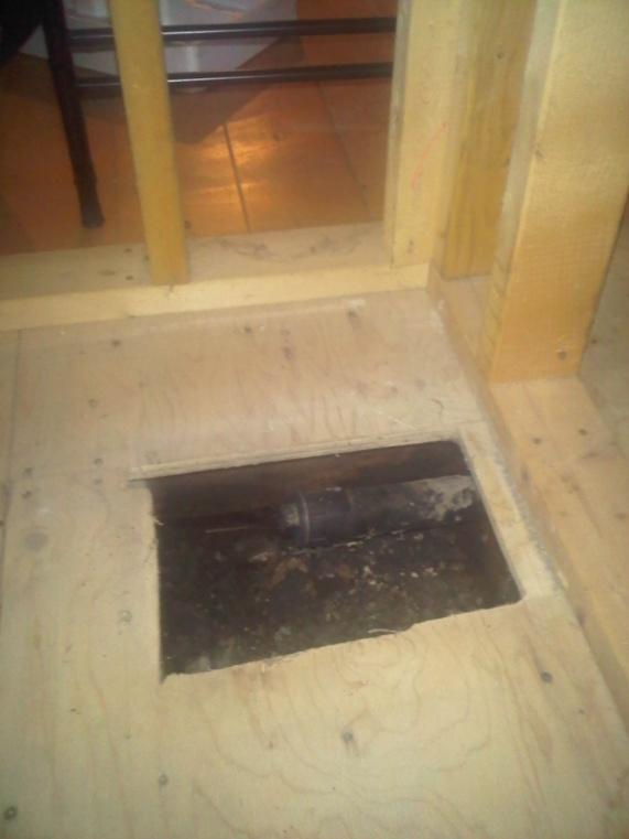 Installing washer and dryer in basement in former tub enclosure.-drain.jpg