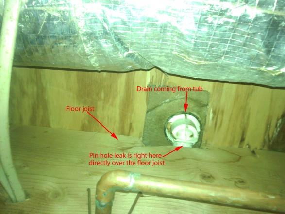 How to repair plastic drain that's not accessible-drain-leak.jpg