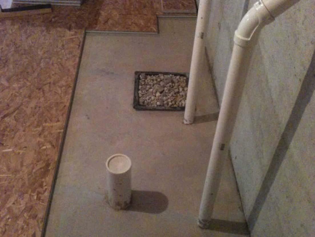 Subfloor And P Trap For Basement Bathroom Diy Home Improvement Forum