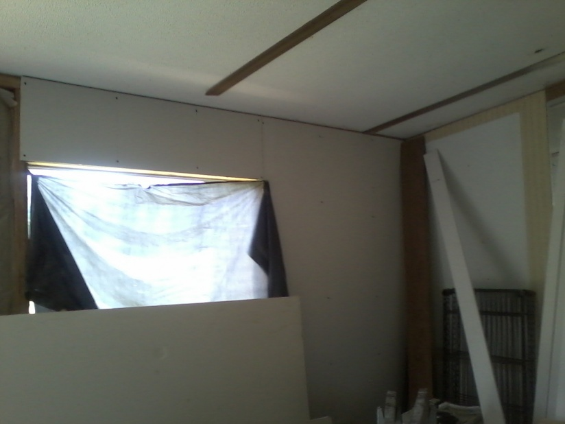 Complete Mobile Home Remodel-drywall-living-room.jpg