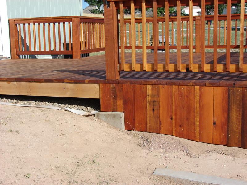 Deck Fascia Along Uneven Ground Building Amp Construction