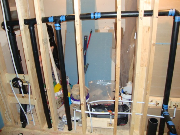 Rough Plumbing A Bathroom small bathroom rough-in, see anything wrong? - plumbing - diy home