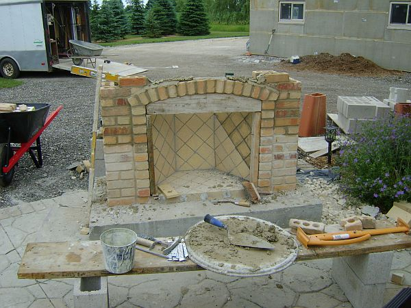 Outdoor Fireplace, Firewood Box Upper Bracing? - Concrete ...