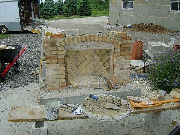 Outdoor Fireplace, Firewood Box Upper Bracing? - Concrete ...
