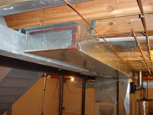 Properly Sealing Hvac Duct Work Diy, Return Air Duct Design Basement