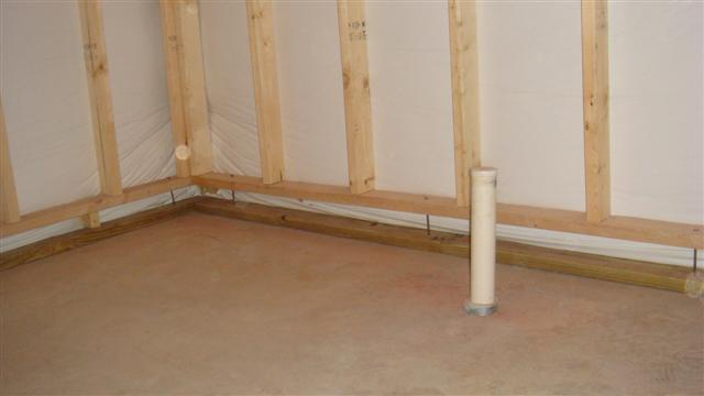 How Do You Install A Walk In Shower In A Basement With Floating Walls?