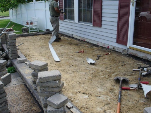 Water Seepage Under Pavers To Joist Sill Plate Building