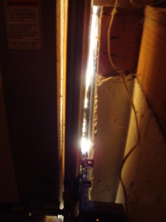 Gap Between Garage Door Frame And Foundation. - Building ...