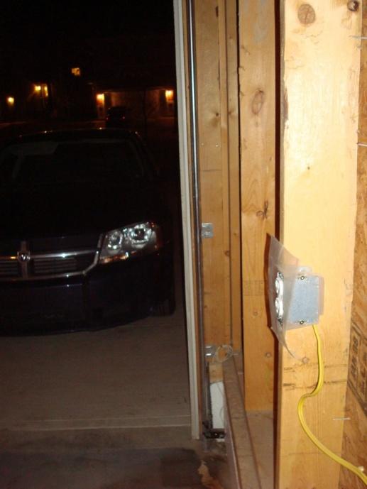 Gap Between Garage Door Frame And Foundation Building
