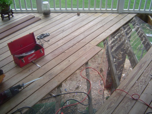 how to fix deck boards