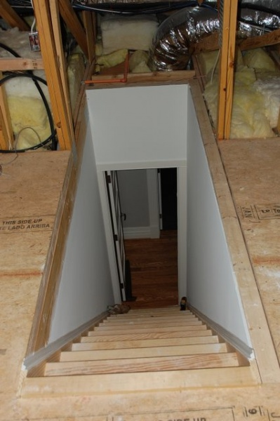 Insulating Attic Stairwell Insulation Diy Chatroom
