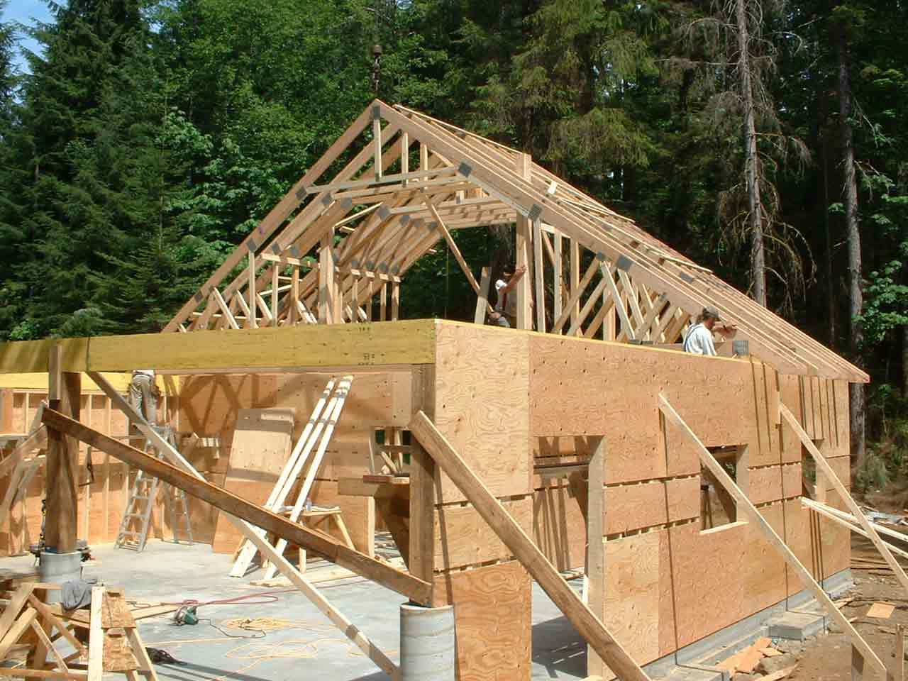 Gambrel Attic Roof Truss Carpentry Diy Chatroom Home
