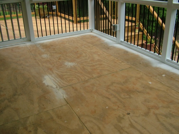 Screen Porch Tile Cdx Subflooring Flooring Diy