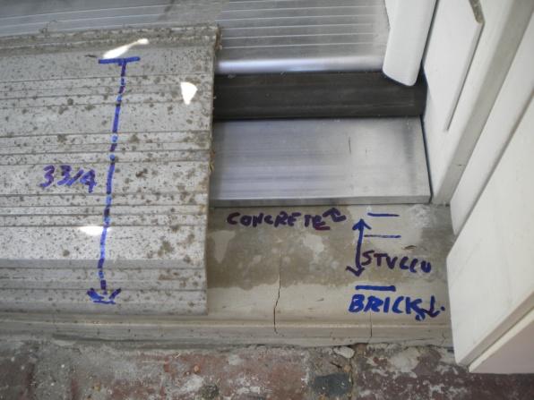 pouring a concrete door sill concrete stone masonry diy